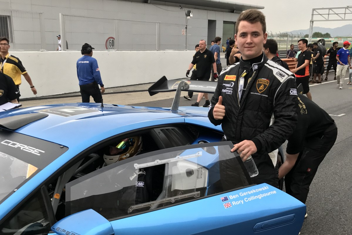 OUTSTANDING START TO LAMBORGHINI SUPER TROFEO ASIA FOR ROOKIE COLLINGBOURNE, WITH CLASS PODIUM ON DEBUT