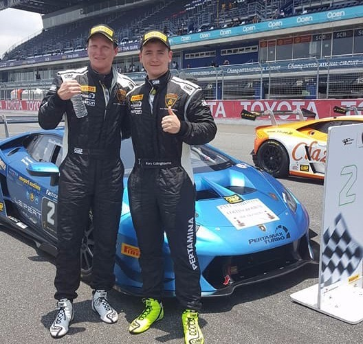 COLLINGBOURNE STARS IN THAILAND WITH DOUBLE PODIUM IN LAMBORGHINI SUPER TROFEO ASIA